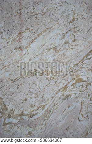 Stone Wall With Streaks Texture Close Up, Grey Brown Beige Background, Grunge Wallpaper
