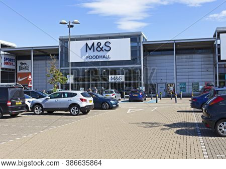 Weston-super-mare, Uk - July 29, 2019: Marks And Spencer Foodhall Which Is Now The Company's Only Sh