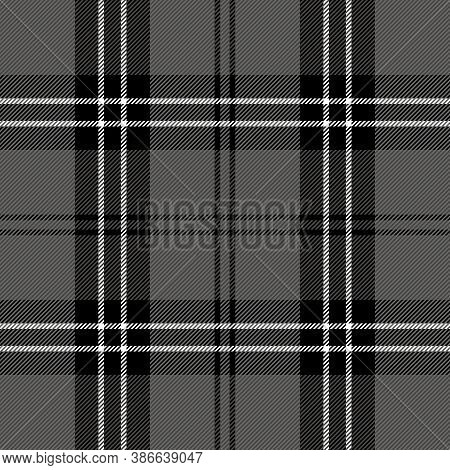 Halloween Tartan Plaid. Scottish Pattern In Black, Gray And White Cage. Scottish Cage. Traditional S