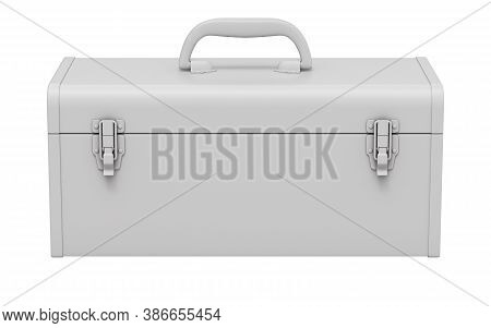 Clay Render Of Retro Toolbox Isolated On White Background - 3d Illustration
