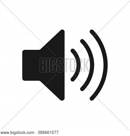 Speaker Audio Icon. Volume Voice Control On Off Mute Symbol. Flat Application Interface Sound Sign B