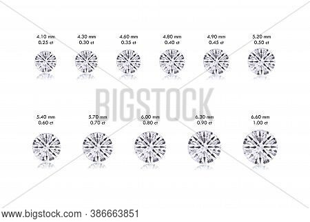 Round Diamond Size Guide From 0.25 Carat To 1.00 Carat