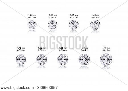 Round Diamond Size Guide From 0.010 Carat To 0.020 Carat