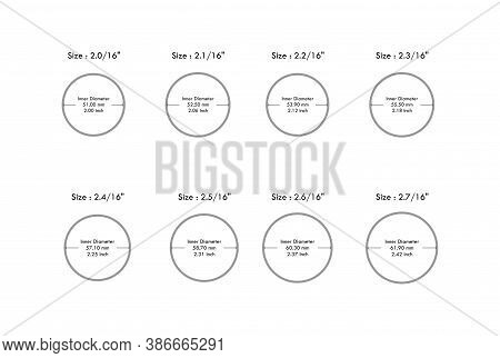 Round Bangle Size Guide From 2.00 Aani  To 2.70 Aani