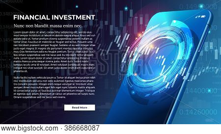 Vector Banner For Financial Investment Or Forex Trading Concept. Futuristic Smart Investment Technol