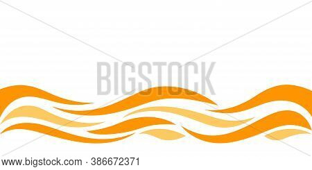 Wave Form Graphic Orange Color, Water Waves Orange For Background, Orange Juice Graphic Ripples For