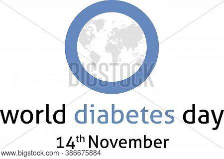 World Diabetes Day 14th November Illustration Map