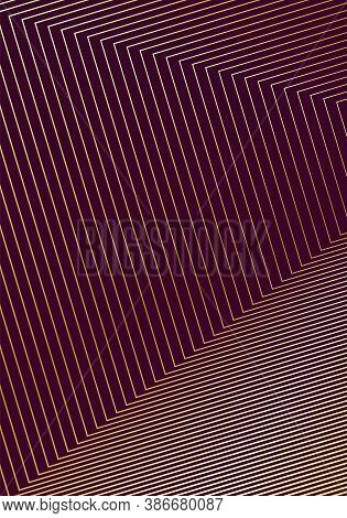 Minimal Cover Design Template. Modern Brochure Layout. Gold Vibrant Halftone Gradients On Wine Red B