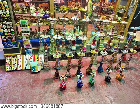 Sharm El Sheikh, Egypt - April 13, 2017: The Local Gift Shop In Egyptian Souvenir Shop At Sharm El S