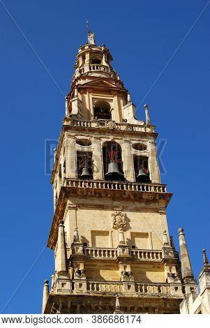 Mezquita (mosque) Cathedral Bell Tower, Cordoba, Cordoba Province, Andalucia, Spain, Europe.