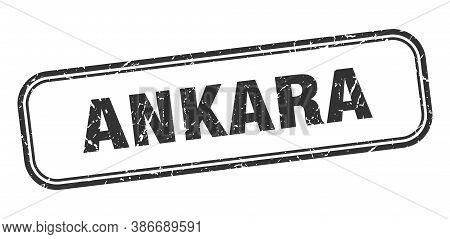 Ankara Stamp. Ankara Black Grunge Isolated Sign