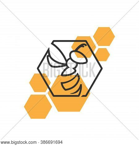 Bee Logo Honey - Nature Animal Apiary Wing Sweet Pollen Beekeeping Fly Nature Hive Beehive Organic B
