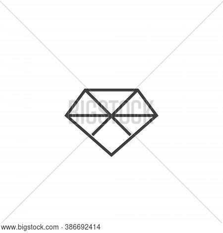 Diamond Logo Jewel Jewelry - Boutique Lux Luxury Gem Gemstone Crystal Carat Rich Treasure Gift Fashi