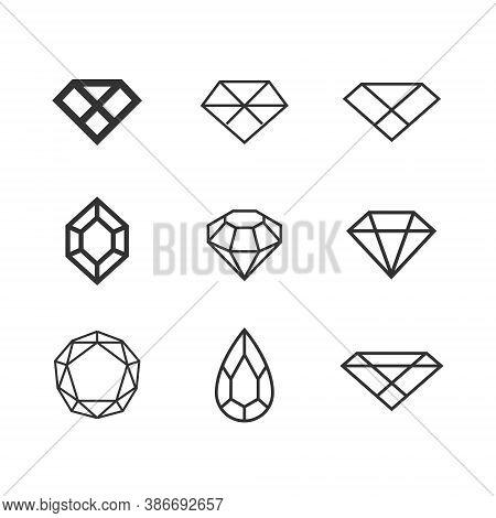 Diamond Logo Set Collection Jewel Jewelry - Boutique Lux Luxury Gem Gemstone Crystal Carat Rich Trea
