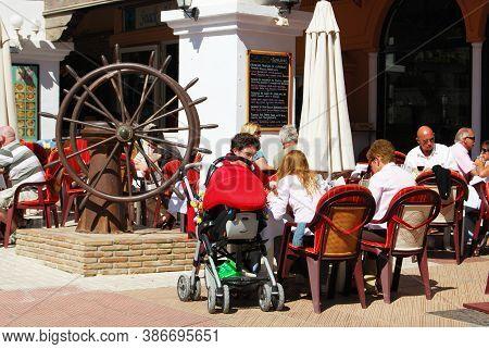 Nerja, Spain - March 19, 2008 - Cafes Near To The Balcony Of Europe (balcon De Europa), Nerja, Spain