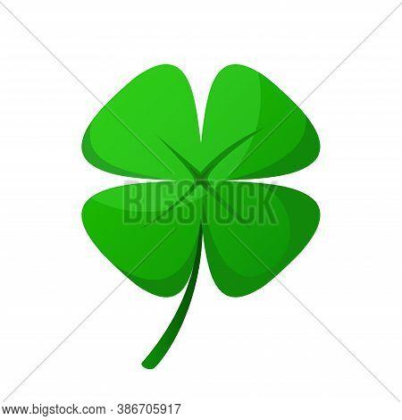 Four Leaf Clover, Green Lucky Four Leaf Irish Clover.