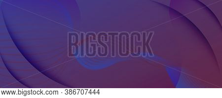 Blue Dynamic Abstract. Flow Line Brochure. 3d Landing Page. Vivid Minimal Stripes. Gradient Graphic