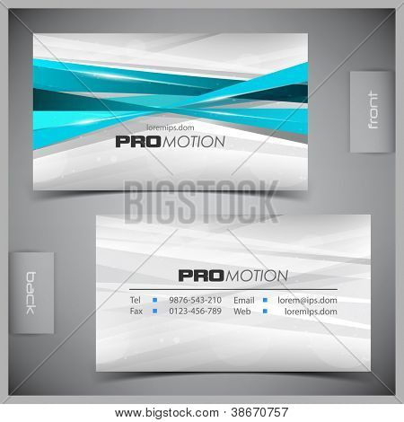 Vector abstract creative business cards (set template) poster