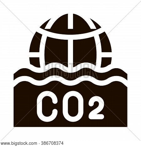 Co2 Smoulder Smoke Steam Vector Icon. Carbonic Oxide Co2 Dirty Air Environmental Problem, Industrial