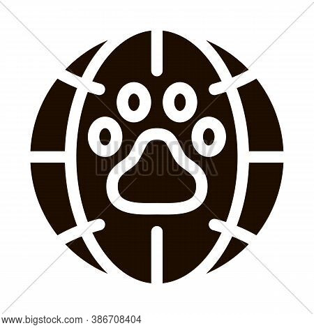Animal Trail Planet Earth Vector Icon. Animal Extinction Environmental Problem, Industrial Pollution