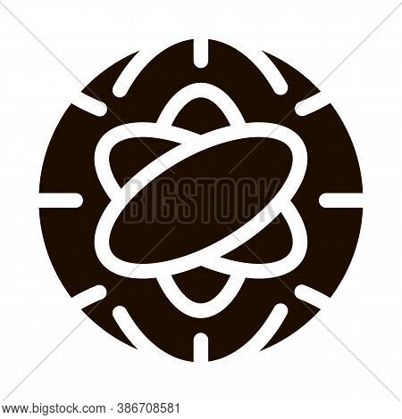 Atom Planet Earth Problem Vector Icon. Environmental Problem, Industrial Pollution, Contamination Pi