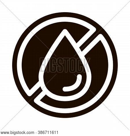 Allergen Free Trans Fat Vector Icon. Allergen Free Hydrogenated Pictogram. Crossed Out Mark Beverage