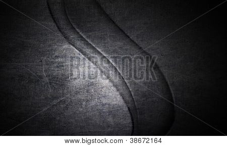 Old Scratched round metal plate texture