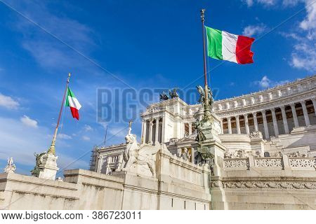 View Of The Monument Of Victor Emmanuel, Rome, Italy