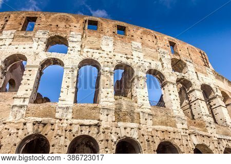 View Of The Famous Colosseum, Rome, Italy