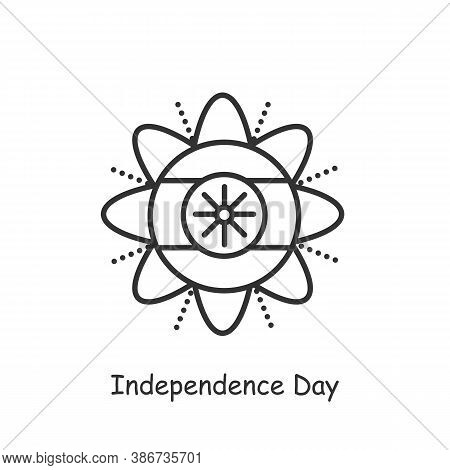 Independence Day Line Icon. Celebration On August 15th. National, Patriotic Indian Holiday. Indian C