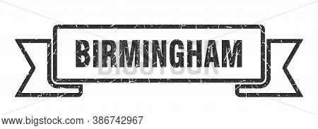 Birmingham Ribbon. Black Birmingham Grunge Band Sign