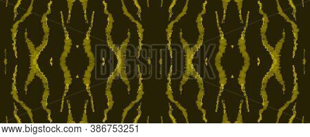 Seamless Safari Wallpaper. Fashion Cheetah Texture. Black Animal Fur Pattern. Watercolour Lines. Wil