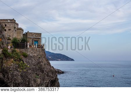 Monterosso Al Mare, Italy - July 8, 2017: Road Connecting Monterosso Al Mare New And Old Town, Cinqu