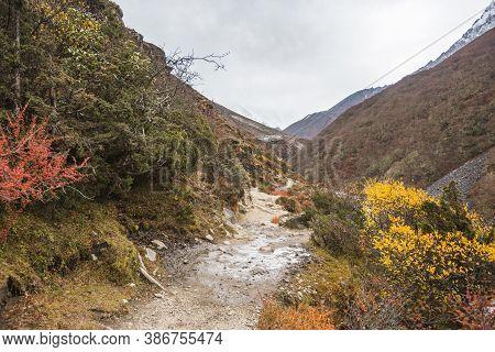 Path To Everest Base Camp. Sagarmatha National Park, Nepal