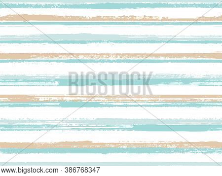 Grunge Stripes Seamless Vector Background Pattern. Dry Ink Art Lines Background. Dry Paintbrush Stri