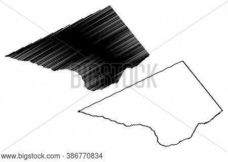 Christ Church (barbados, Parishes Of Barbados) Map Vector Illustration, Scribble Sketch Parish Of Ch