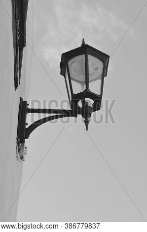 The Lamppost That Illuminates The Main Street Of The Streets Of Garachico