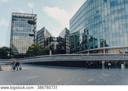 London, Uk - August 25, 2020: View Of More London, Part Of London Bridge City Area That Includes The
