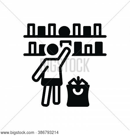 Black Solid Icon For Select-goods Select Goods Preference Pick Rack Clientele Shopping-mall Accessor