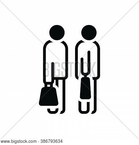 Black Solid Icon For Going-to-shopping Together Excitement Purchaser Shopping Consumer Prospective-b