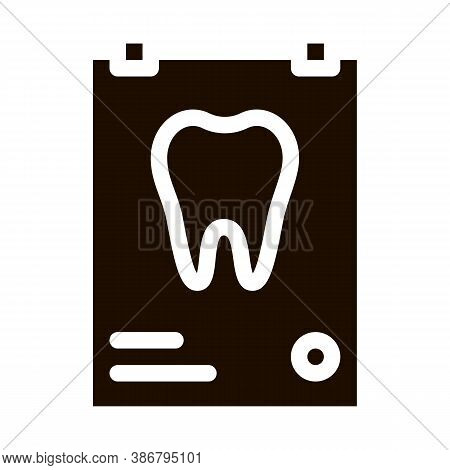 Dental X-ray Image Stomatology Vector Sign Icon . Stomatology Dentist Equipment And Device Pictogram