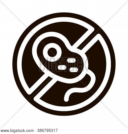 Anti Bacillus Bacteria Vector Sign Icon. Forbidden Mark With Bacteria Pictogram. Chemical Microbe Ty