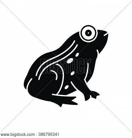 Black Solid Icon For Frog Toad Batrachian Salientian Amphibian Animal Jumping Tadpole Croaking