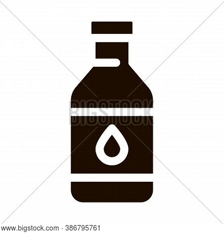 Healthy Water In Plastic Bottle Vector Sign Icon . Bio Health Ecology Clean Purity Water Pictogram.