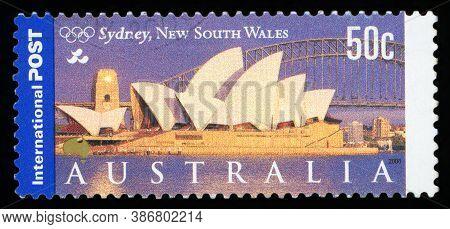 Australia - Circa 2000: A Stamp Printed In Australia , Sydney,nsw, Circa 2000