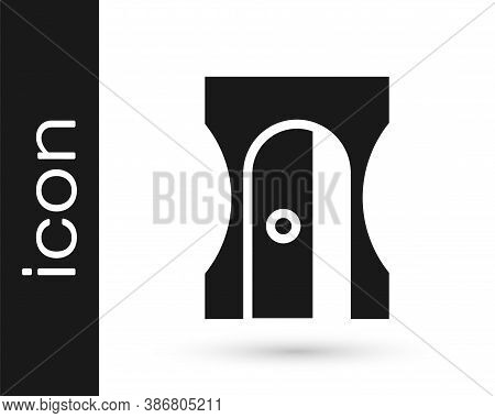 Grey Pencil Sharpener Icon Isolated On White Background. Vector Illustration