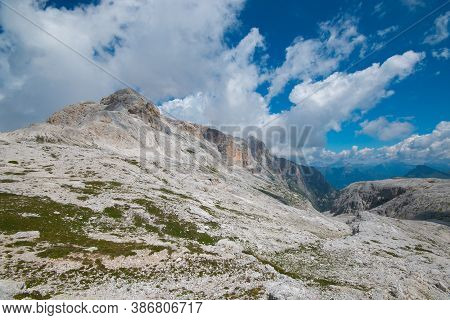 Big Plateau At The Summit Of Pale Di San Martino In Trentino During Summer Day, Italy
