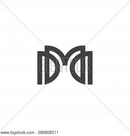 M D Letter Lettermark Logo Md Monogram - Typeface Type Emblem Character Trademark