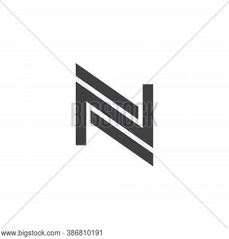 N Letter Lettermark Logo Monogram - Typeface Type Emblem Character Trademark