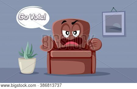 Cartoon Couch Saying Go Vote In This Elections